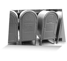 US mail boxes - New York Greeting Card