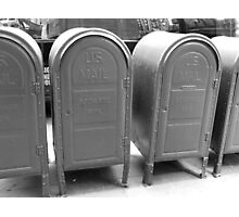 US mail boxes - New York Photographic Print