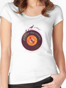 Follow the music Women's Fitted Scoop T-Shirt