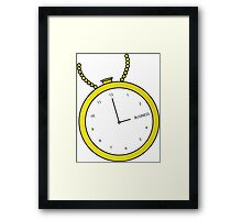 Business Time Framed Print