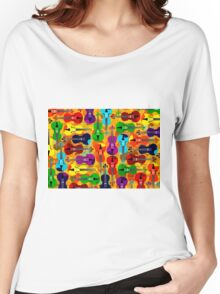 VIOLINS ALL OVER Women's Relaxed Fit T-Shirt