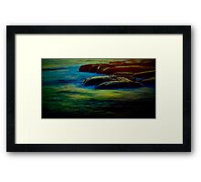 Baked by the sun, surrounded by the sea Framed Print