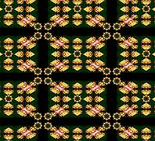 good as gold rose pattern with medallians by Beth BRIGHTMAN