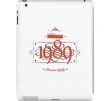 Since 1989 (Red&Black) iPad Case/Skin