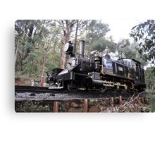 Puffing Billy on track Canvas Print