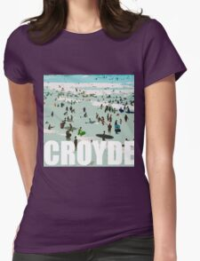 Croyde surfers Womens Fitted T-Shirt