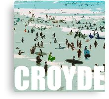 Croyde surfers Canvas Print