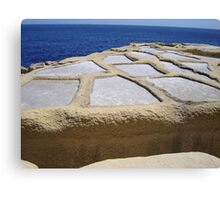 Salt Pans Canvas Print
