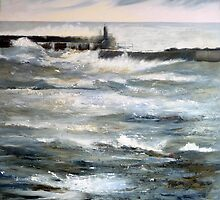 Staithes Breakwater by Sue Nichol