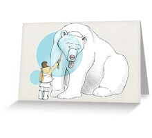 Polar bear and Girl Greeting Card