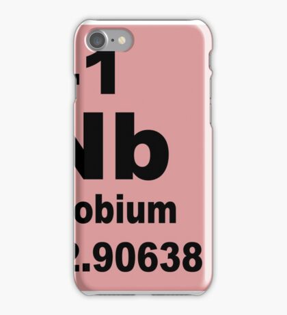 Niobium Periodic Table of Elements iPhone Case/Skin