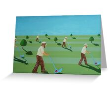 Cutting the grass, cutting the grass, cutting the grass... Greeting Card