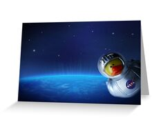 Maurice in space Greeting Card