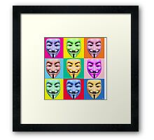 GUY FAWKES PROTEST Framed Print