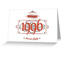 Since 1996 (Red&Black) Greeting Card