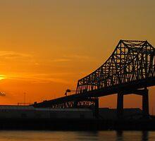 Sunset on the Mississippi #2 by L.D. Bonner