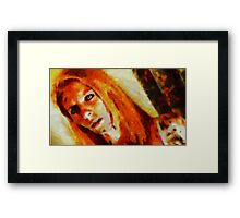 Demoness by Sarah Kirk Framed Print