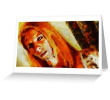 Demoness by Sarah Kirk Greeting Card