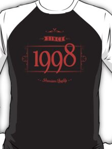 Since 1998 (Red&Black) T-Shirt
