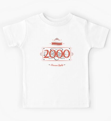 Since 2000 (Red&Black) Kids Tee