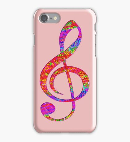 Psychedelic Music note 1 iPhone Case/Skin