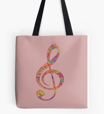 Psychedelic Music note 2 Tote Bag