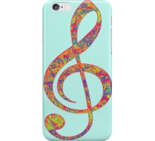 Psychedelic Music note 2 iPhone Case/Skin