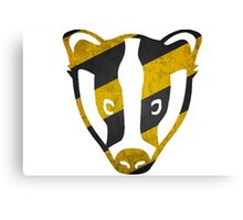 Badger - Yellow & Black Stripes Canvas Print