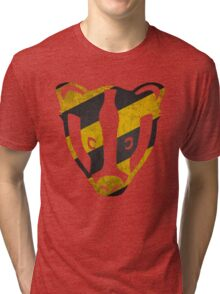 Badger - Yellow & Black Stripes Tri-blend T-Shirt