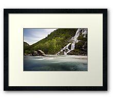 Waterfall in Norway Framed Print
