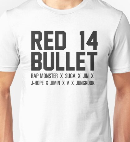 RED BULLET BTS Unisex T-Shirt