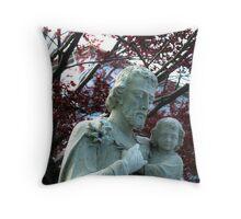 Statue of St. John the Baptist Throw Pillow