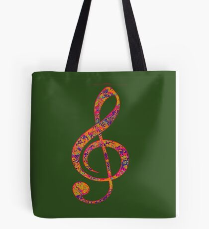 Psychedelic Music note 4 Tote Bag