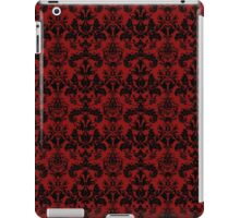 Vintage Red Black Damask Pattern iPad Case/Skin