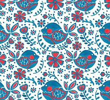 The Blue Bird Print by haidishabrina