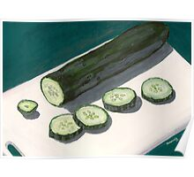 slices of cucumber Poster