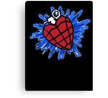 Heart Hand Grenade  Canvas Print