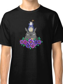 Totoro Tower and Flowers Classic T-Shirt