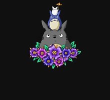 Totoro Tower and Flowers Unisex T-Shirt
