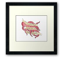 octopus love Framed Print