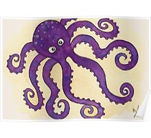 The Purple Octopus Poster