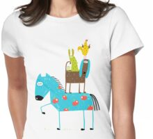 Farm Animal Pile Womens Fitted T-Shirt