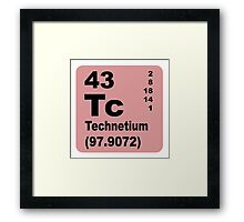 Technetium Periodic Table of Elements Framed Print