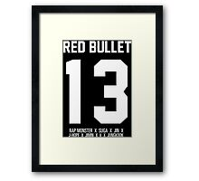 RED BULLET BTS 13 Framed Print