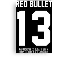RED BULLET BTS 13 Canvas Print