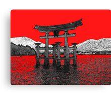 Japan Noir 12 Canvas Print