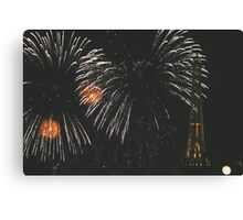 Fireworks over France, EPCOT World Showcase Canvas Print