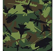 Military Camouflage Pattern Print Photographic Print