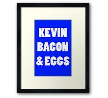 80s kevin bacon and eggs geek funny nerd Framed Print