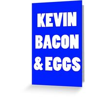 80s kevin bacon and eggs geek funny nerd Greeting Card